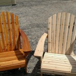Staining of wood chairs
