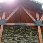 Barn beam staining